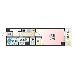 Osaka Metro御堂筋線 昭和町駅 徒歩5分の賃貸マンション 4階1Kの間取り