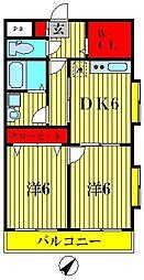 ハイツ松戸III[1階]の間取り
