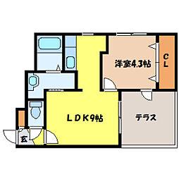 北海道札幌市中央区北三条西18丁目の賃貸マンションの間取り
