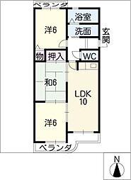 セントラル21[2階]の間取り