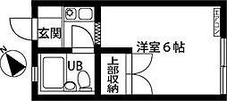 埼玉県さいたま市見沼区大字東門前の賃貸アパートの間取り