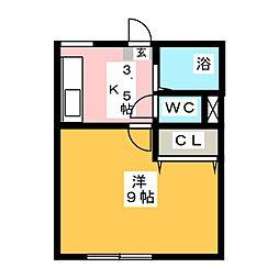 コーポF[2階]の間取り