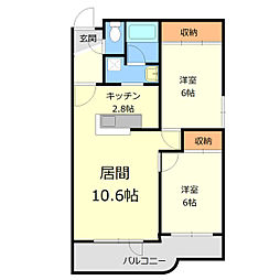 グランコート上野幌[3階]の間取り