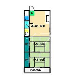 桜井マンション[2階]の間取り