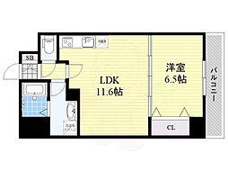 (仮称)リバレイン江坂 6階1LDKの間取り