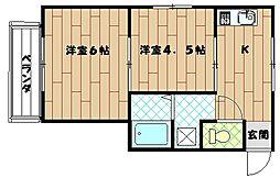 YKマンション[103号室]の間取り