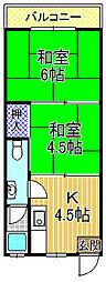 シャトレ[4階]の間取り
