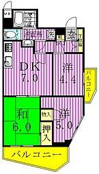 東京都足立区大谷田3丁目の賃貸マンションの間取り