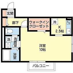 セジュールSAKAHAN[2階]の間取り