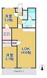 Lino24[1階]の間取り