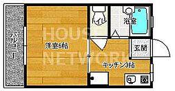 京都府京都市上京区新夷町の賃貸アパートの間取り