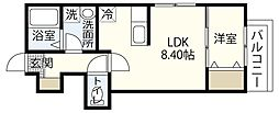 MOVE府中浜田壱番館[1階]の間取り