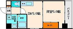 CAMPANIO ESAKA 6階1DKの間取り