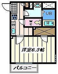 東京都墨田区東向島3丁目の賃貸マンションの間取り