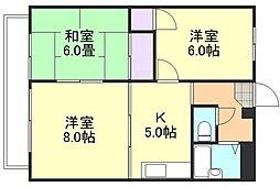 エトワール倉敷[3階]の間取り
