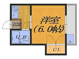 大阪府堺市北区野遠町の賃貸アパートの間取り