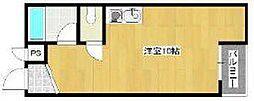 大阪府大阪市住之江区新北島1丁目の賃貸マンションの間取り
