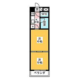 バリュー大和町[4階]の間取り