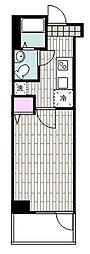 JR京浜東北・根岸線 山手駅 徒歩9分の賃貸マンション 3階1Kの間取り