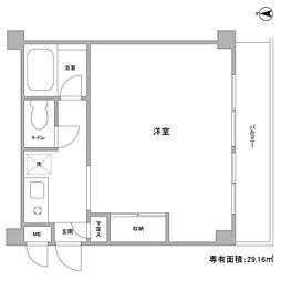 江田パークサイドマンション[104号室]の間取り