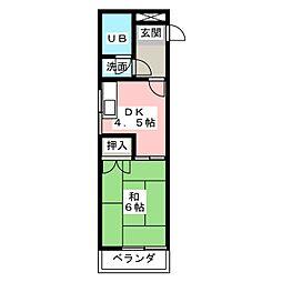 第2富士ハイツ[3階]の間取り
