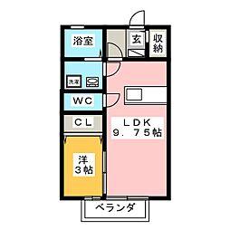 セジュールココペリ[2階]の間取り