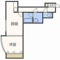 北海道札幌市東区北二十七条東12丁目の賃貸アパートの間取り