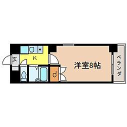 タウンコート児島[5階]の間取り