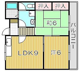大阪府摂津市鳥飼中1丁目の賃貸マンションの間取り