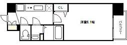 プレサンス南堀江 12階1Kの間取り