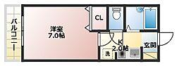 プリマ富田[1階]の間取り