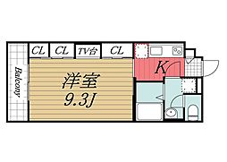千葉県成田市幸町の賃貸アパートの間取り