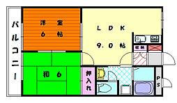 福岡県福岡市東区奈多1丁目の賃貸アパートの間取り