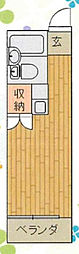 神奈川県海老名市東柏ケ谷4丁目の賃貸アパートの間取り