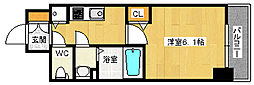 JR東海道・山陽本線 塚本駅 徒歩3分の賃貸マンション 2階1Kの間取り