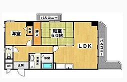 メゾンサンテ[4階]の間取り