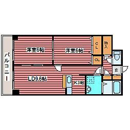 スカイ27[3階]の間取り