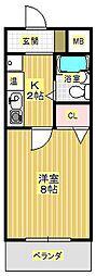 メイプルハイムPART-1[3階]の間取り