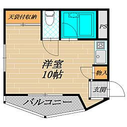ベルモントマンション[2階]の間取り