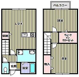 [タウンハウス] 大阪府河内長野市南貴望ケ丘 の賃貸【/】の間取り