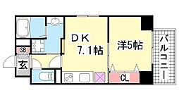 JEUNESSE北野[8B号室]の間取り