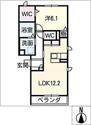 コンチェルト II[2階]の間取り