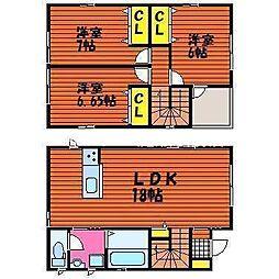 [一戸建] 岡山県岡山市北区今保 の賃貸【/】の間取り