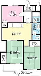 コーポ安宅[43号室]の間取り