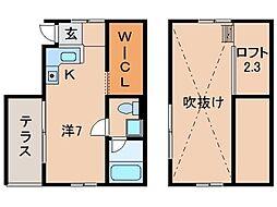 ルフトゼロ田尻[B3号室]の間取り