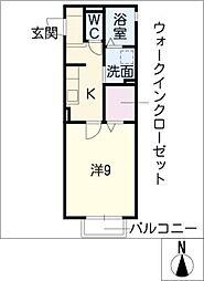 シャルルー日進[2階]の間取り