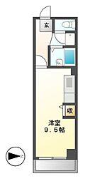 アーバンドエル新栄[5階]の間取り