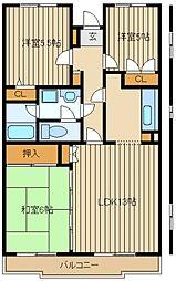 メルベーユ南大泉[3階]の間取り