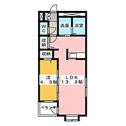 静岡県静岡市葵区茶町1丁目の賃貸マンションの間取り