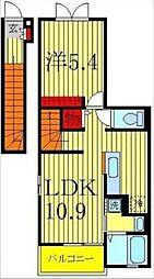 南流山6丁目アパート[2階]の間取り